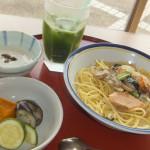 ヘルシメニュー:鮭の豆乳クリームパスタ